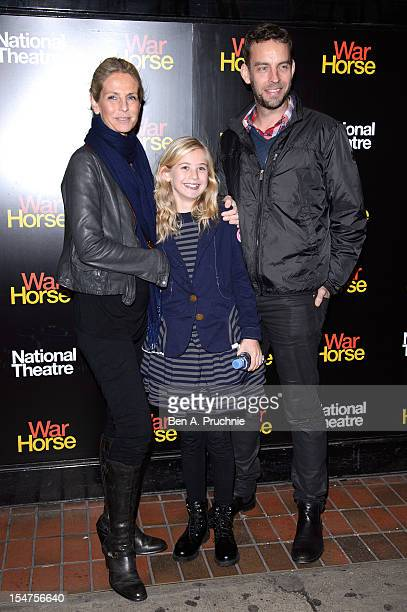 Ulrika Jonsson and Brian Monet attends the 5th anniversary performance of 'War Horse' at The New London Theatre Drury Lane on October 25 2012 in...