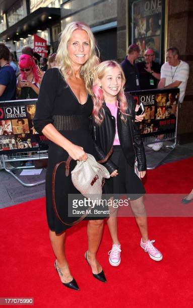 Ulrika Jonsson and daughter attend the World Premiere of 'One Direction This Is Us 3D' at Empire Leicester Square on August 20 2013 in London England