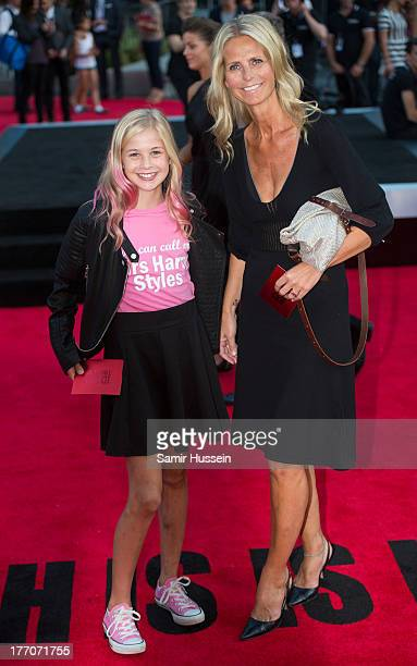 Ulrika Jonsson and daughter Bo Eva Coeur Jonsson attend the World Premiere of 'One Direction This Is Us' at Empire Leicester Square on August 20 2013...