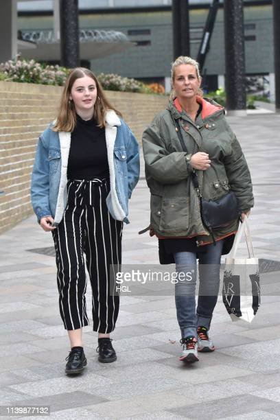 Ulrika Jonsson and daughter Martha GerrardWright seen at the ITV Studios on April 02 2019 in London England