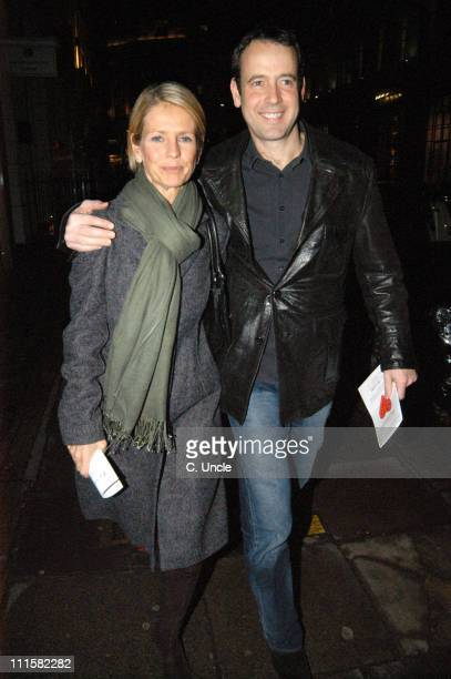 Ulrika Jonsson and husband Lance GerrardWright during Chain Of Hope Auction Arrivals at Sketch in London Great Britain