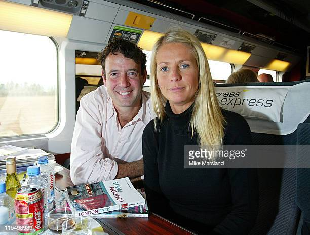 Ulrika Jonsson and husband Lance GerrardWright during Eurostar Launches Faster Service Between London And Paris at Waterloo Station in London Great...