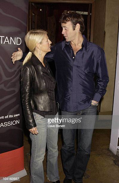 Ulrika Jonsson And Lance Gerrard Wright Auction Of Celebrity Designed Bandanas In Aid Of The Teenage Cancer Trust Charity At The Collection In South...