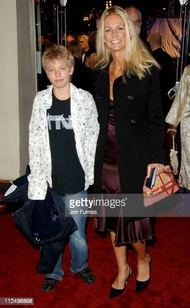 Ulrika Jonsson and son during Casino Royale World Premiere Inside Arrivals at Odeon Leicester Square in London Great Britain