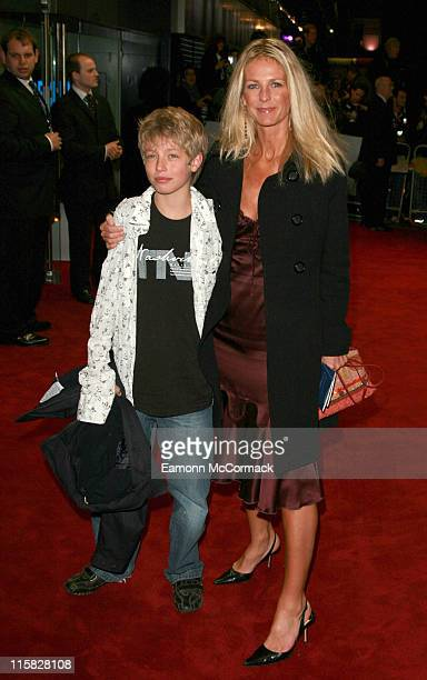 Ulrika Jonsson and son during Casino Royale World Premiere Outside Arrivals at Odeon Leicester Square in London Great Britain