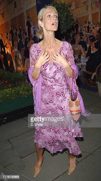Ulrika Jonsson during 2005 Sony Radio Academy Awards Departures at Grosvenor House Hotel in London Great Britain