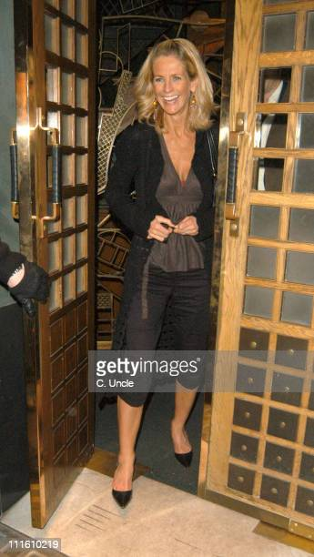 Ulrika Jonsson during Jonathan Ross and Ulrika Jonsson Sightings at The Ivy Restaurant April 27 2005 in London Great Britain
