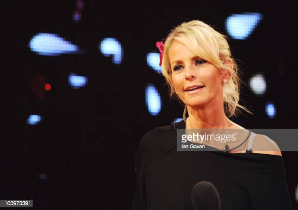 Ulrika Jonsson is evicted from the Big Brother house during the final of Ultimate Big Brother on September 10 2010 in Borehamwood England