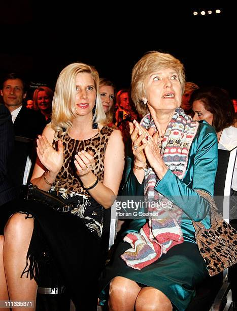 Ulrike Doepfner and Friede Springer attend the 'Goldene BILD der FRAU Award' at Axel Springer Haus on March 31 2011 in Berlin Germany