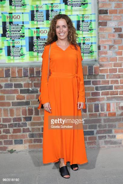 Ulrike Fleischer wife of Michi Beck attends the HUGO show during the Berlin Fashion Week Spring/Summer 2019 at Motorwerk on July 5 2018 in Berlin...