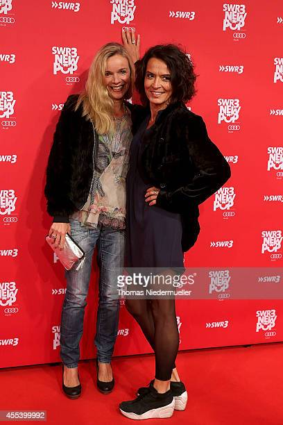 Ulrike Folkers and Katharina Schnitzler attends the red carpet prior to the SWR3 New Pop Festival 'Das Special' at Festspielhaus on September 13,...