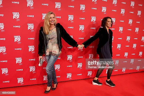 Ulrike Folkers and Katharina Schnitzler attends the red carpet prior to the SWR3 New Pop Festival 'Das Special' at Festspielhaus on September 13 2014...