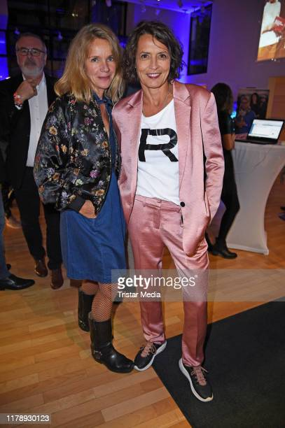 Ulrike Folkerts and her partner Katharina Schnitzler attend the 30th anniversary of Tatort with Lena Odenthal on October 29 2019 in Berlin Germany