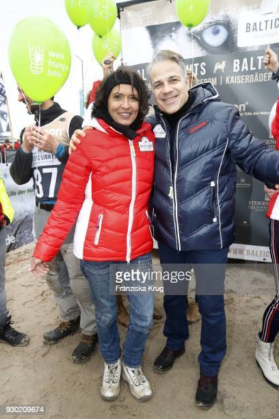 Ulrike Folkerts and Karsten Speck during the 'Baltic Lights' charity event on March 10 2018 in Heringsdorf Germany The annual event hosted by German...