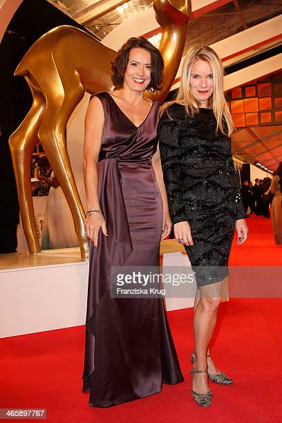 Ulrike Folkerts and Katharina Schnitzler attend the Bambi Awards 2013 at Stage Theater on November 14 2013 in Berlin Germany