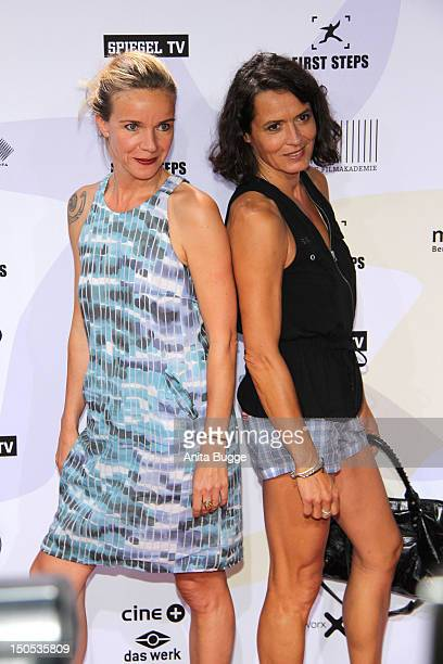 Ulrike Folkerts and Katharina Schnitzler attend the 'First Step Awards 2012' in the Stage Theater Potsdamer Platz on August 20 2012 in Berlin Germany