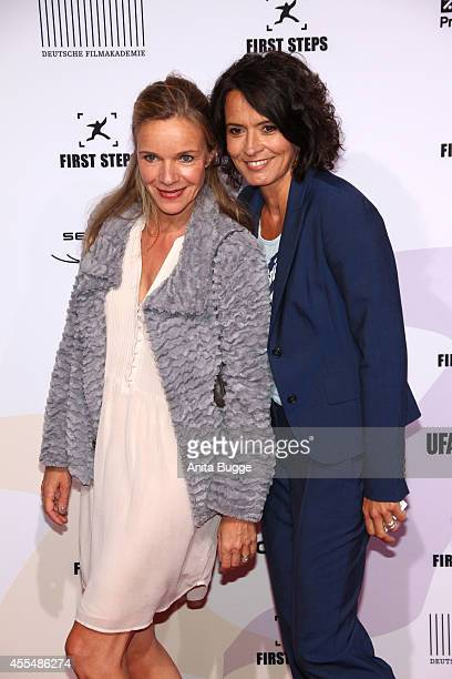 Ulrike Folkerts and Katharina Schnitzler attend the 'First Steps Award 2014' at Stage Theater on September 15 2014 in Berlin Germany