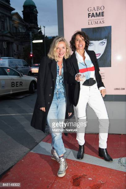 Ulrike Folkerts and Katharina Schnitzler attend the 'Gabo Fame' Exhibition Opening at HumboldBox on September 9 2017 in Berlin Germany