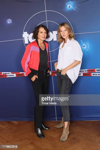 Ulrike Folkerts and Lisa Bitter during the 30 Jahre Lena Odenthal Tatort set visit on October 2 2019 in Hamburg Germany