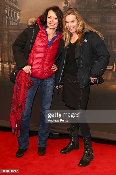 Ulrike Folkerts and partner Katharina Schnitzler attend 'Nacht Ueber Berlin' Preview at Astor Film Lounge on January 31 2013 in Berlin Germany