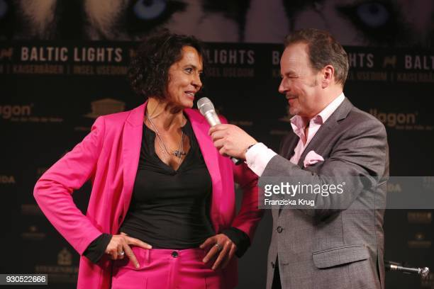 Ulrike Folkerts and Till Demtroeder during the 'Baltic Lights' charity event on March 10 2018 in Heringsdorf Germany The annual event hosted by...