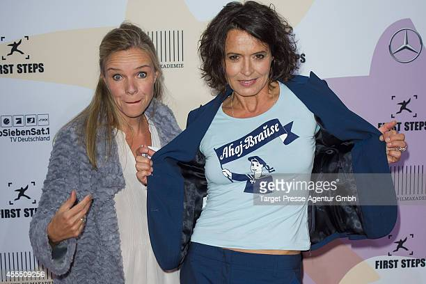 Ulrike Folkertz and Katharina Schnitzler attend the 'First Steps Award 2014' at Stage Theater on September 15 2014 in Berlin Germany
