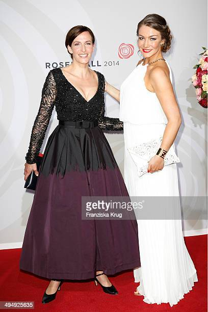 Ulrike Frank and AnnaKatharina Samsel attend the Rosenball 2014 on May 31 2014 in Berlin Germany