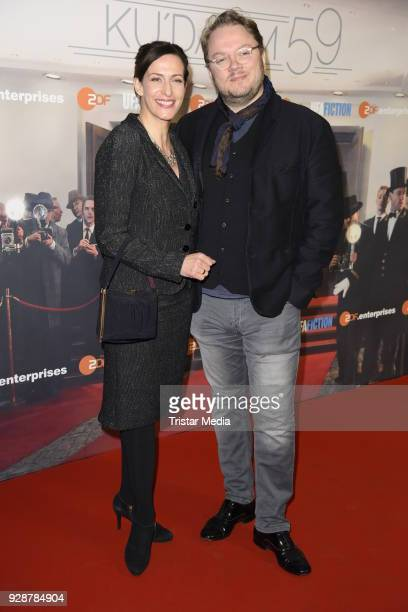 Ulrike Frank and her husband Marc Schubring during the premiere of 'Ku'damm 59' at Cinema Paris on March 7 2018 in Berlin Germany