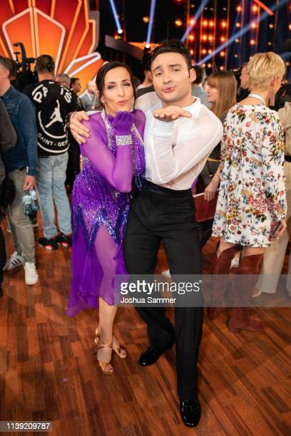 Ulrike Frank and Robert Beitsch during the 2nd show of the 12th season of the television competition Let's Dance on March 29 2019 in Cologne Germany