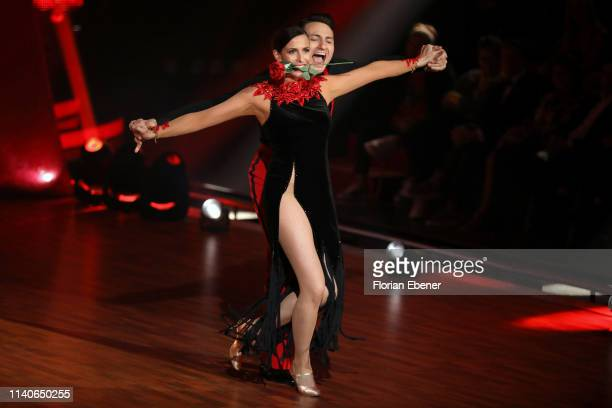 Ulrike Frank and Robert Beitsch perform during the 3rd show of the 12th season of the television competition Let's Dance on April 05 2019 in Cologne...
