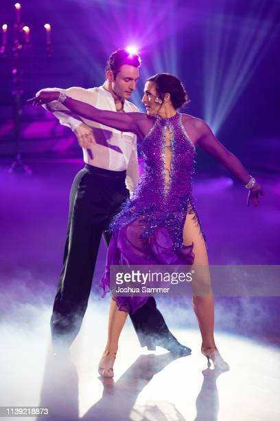 Ulrike Frank and Robert Beitsch perform on stage during the 2nd show of the 12th season of the television competition Let's Dance on March 29 2019 in...