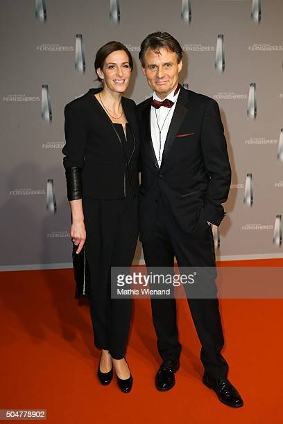 Ulrike Frank and Wolfgang Bahro attend the German Television Award at Rheinterrasse on January 13 2016 in Duesseldorf Germany