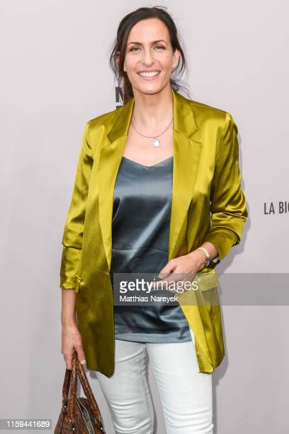 Ulrike Frank attends the Guido Maria Kretschmer show during the Berlin Fashion Week Spring/Summer 2020 at ewerk on July 01 2019 in Berlin Germany