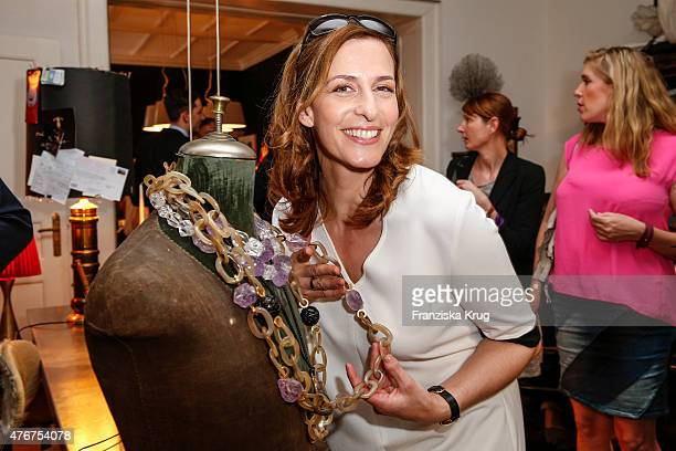 Ulrike Frank attends the 'Lobby for a Weekend' Cocktail Prologne In Berlin on June 11 2015 in Berlin Germany