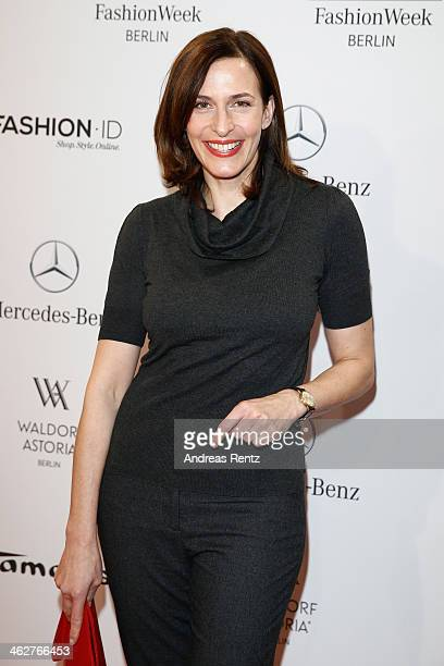 Ulrike Frank attends the Minx by Eva Lutz show during MercedesBenz Fashion Week Autumn/Winter 2014/15 at Brandenburg Gate on January 15 2014 in...