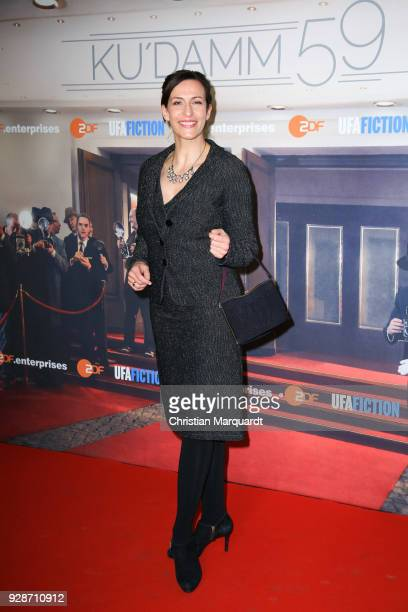 Ulrike Frank attends the premiere of 'Ku'damm 59' at Cinema Paris on March 7 2018 in Berlin Germany