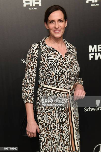 Ulrike Frank attends the Riani show during Berlin Fashion Week Autumn/Winter 2020 at Kraftwerk Mitte on January 15 2020 in Berlin Germany