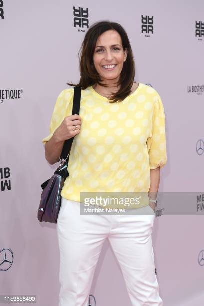 Ulrike Frank attends the Riani show during the Berlin Fashion Week Spring/Summer 2020 at ewerk on July 03 2019 in Berlin Germany