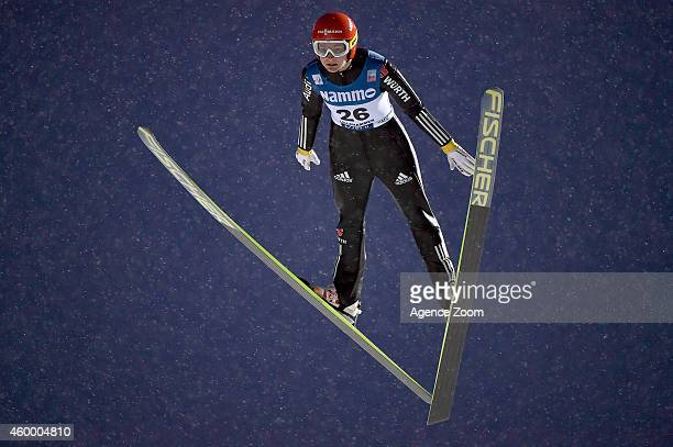 Ulrike Graessler of Germany competes during the FIS Ski Jumping World Cup Women's HS100 on December 05 2014 in Lillehammer Norway