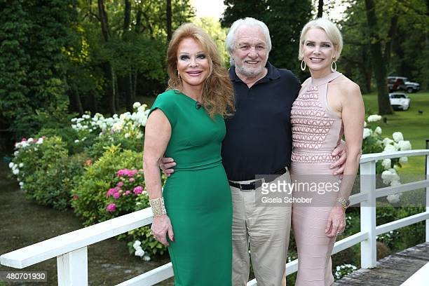 Ulrike Huebner and her husband Erich Kaub and their daughter Sabina Huebner during the 'Winning by Giving' charity by Hadassah Medical Center on July...