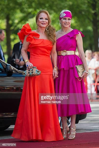 Ulrike Huebner and Sabine Huebner attend the Bayreuth Festival Opening 2014 on July 25 2014 in Bayreuth Germany