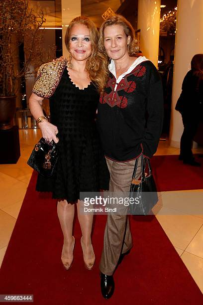 Ulrike Huebner and Suzanne von Borsody attend the Swarovski Christmas Party 2014 at Hotel Vier Jahreszeiten on November 27 2014 in Munich Germany