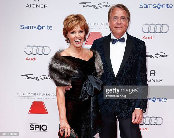 Ulrike Kriener and Georg Weber attend the German Film Ball 2015 on January 17 2015 in Munich Germany