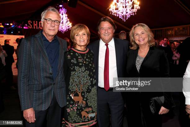 Ulrike Kriener and her husband Georg Weber and Georg Dingler General Manager Radio Gong 963 and his wife Martina Dingler at the celebration party of...