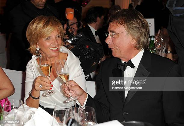 Ulrike Kriener and her husband Georg Weber attend the German Filmball at the Hotel Bayerischer Hof on January 21 2012 in Munich Germany