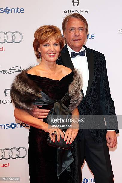 Ulrike Kriener and her husband Georg Weber during the German Filmball 2015 at Hotel Bayerischer Hof on January 17 2015 in Munich Germany