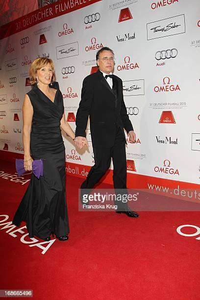 Ulrike Kriener and husband Georg Weber at 37th German Filmball at Hotel Bayerischer Hof in Munich