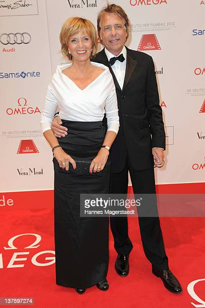 Ulrike Kriener and husband Georg Weber attend the German Filmball at the Hotel Bayerischer Hof on January 21 2012 in Munich Germany