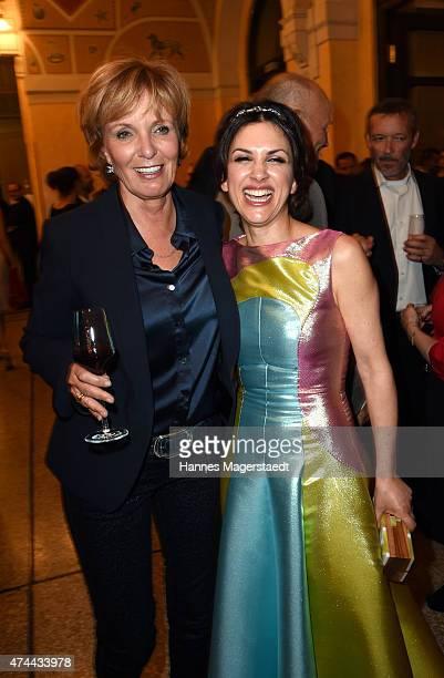 Ulrike Kriener and Viktoria Lauterbach attend the Bayerischer Fernsehpreis 2015 at Prinzregententheater on May 22 2015 in Munich Germany