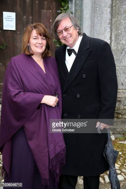 Ulrike Reisch during the wedding of Prince Konstantin of Bavaria and Princess Deniz of Bavaria born Kaya at the french church 'Eglise au Bois' on...